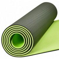 Антибактериальный коврик для йоги, фитнеса GO SPORT TPE Yoga Mat, 6 мм